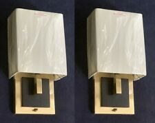 "Pair of Solid Brass wall sconces, switched, 16""tall, restaurant, home, bedside"