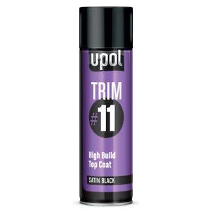 Upol Trim #11 - High Build Top Coat - Matt, Satin & Gloss Black - Aerosol