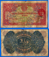 Mozambique 1/2 Libra Sterling 1919 Livre Cancelado Beira Free Shipping Worldwide