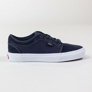 Vans Chukka Low Shoes Trainers – Ink Blue/White in UK Size 7,8,9,10,11,12