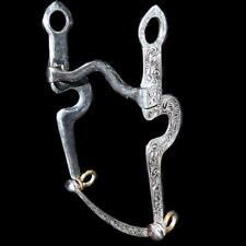 Sterling Silver Overlay Santa Barbara Ynez Horseshoe Vaquero Low Curb Bridle Bit