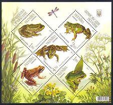 Ukraine 2011 Frogs/Amphibians/Animals/Nature/Wildlife/Dragonfly 5v m/s (n33800)