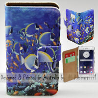 For OPPO Series - Deep Ocean Fishes Print Wallet Mobile Phone Case Cover