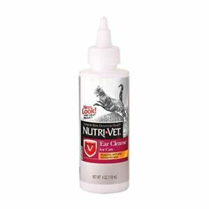 Nutri-Vet Ear Cleanser for Cats, Removes Dirt and Dissolves Wax, 4oz