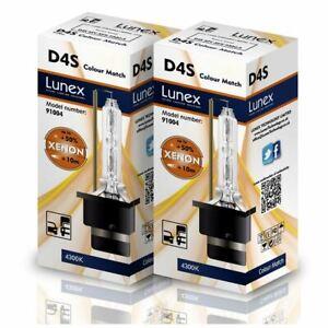 2 x D4S Genuine LUNEX XENON BULB P32d-5 Original 35W 4300K Colour Match +50%