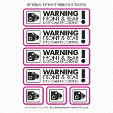 7 x Dash Cam Recording Stickers CCTV In Car Camera - Window Sticker - UV3080