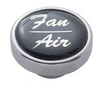 Knob plain fan/air black glossy sticker for Freightliner Kenworth Peterbilt dash