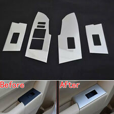 4x Auto Inner Door Handle window Switch Lift Control Cover ABS For Corolla 2014