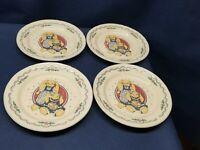"""Vintage Tabletops Unlimited """"BUNNY"""" Pattern Set/4 Dessert/Salad Plates"""