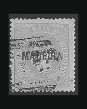 VINTAGE:MADIERA-PORTUGAL 1868 USD VLHR  SCOTT 15 $425 LOT #1868X228
