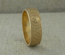 14K Yellow Celtic Warrior Shield Wedding Ring Irish made by Boru Sizes 7 or 8.5