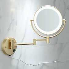 "8"" LED Bath Mirror Bathroom Dual Arm Extend Beauty Glass 2-Face Magnifying"