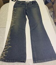 Sparkly Flare Jeans Size 14 Jeanology NWT