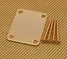 099-1447-200 Genuine Fender Gold Plain Vintage Style Guitar/Bass Neck Plate