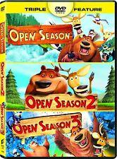 Open Season 1 2 3 Triple Feature DVD - NEW!!