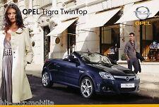 Opel Tigra TwinTop Prospekt 1/07 car sales brochure Autoprospekt Auto PKWs 2007