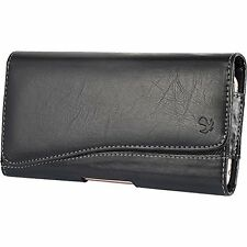 Horizontal Leather Pouch with Magnetic Closure for Samsung Galaxy Note 5 - Black
