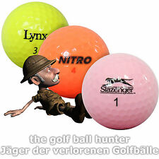 100 bunte gebrauchte Marken Mix Golfbälle - Lakeballs in schöner AAA-AA Qualität