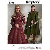 S8768 Simplicity 8768 Sewing Pattern Misses Costume Game of Thrones Cersei Movie