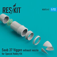 Saab 37 Viggen exhaust nozzle for Special Hobby Kit 1/72 ResKit RSU72-0041