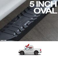 "Fit 19-20 Ford Ranger Super/Ext 5"" Black Oval Side Step Nerf Bars Running Boards"