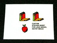 Ersatz Pre-Cut Aufkleber/Sticker für LEGO 3647 Fabuland School Room (1989)