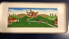 "Villeroy & Boch DESIGN NAIF Sandwich Tray VILLAGE Country Scenes Platter 16"""