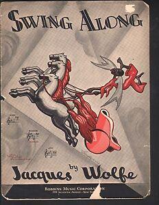 Swing Along 1934 Jacques Wolfe Sheet Music