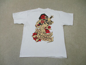 West Coast Choppers Shirt Adult Large White Red Motorcycle Biker Rider Mens *