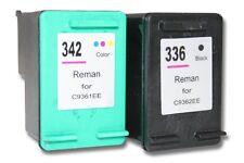 2x CARTOUCHE d'ENCRE noir couleur pour HP 336 342 Photosmart C3175 C3180