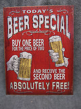 Today's Beer Special FUNNY Bar Tin Metal Sign Decor