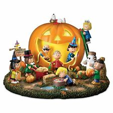Peanuts Gang Figure Halloween Pumpkin Carving Party Light Sound Figurine Decor