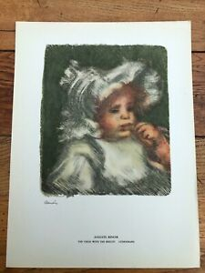 1946 french impressionists print - auguste renoir . the child with the biscuit