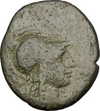 PERGAMON in MYSIA 133BC Athena Trophy Helmet Authentic Ancient Greek Coin i51995
