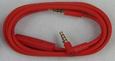 Genuine Beats by Dre 3.5mm Audio Headphone Cable w/Mic Volume Control - Red