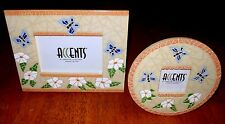 NEW 2 Butterfly Flower Mosaic Picture Frames CHARACTER COLLECTIBLES Spanish Deco