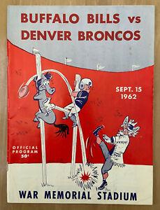 VINTAGE 1962 AFL NFL DENVER BRONCOS @ BUFFALO BILLS FOOTBALL PROGRAM - SEPT 15