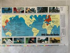 US Stamps SC# 2697 WW-II 1942 1/2 sheet of 10 MNH 29c 1992