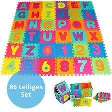 Puzzlematte Kinderteppich Spielteppich Spielmatte Schaumstoffmatte 86 tlg