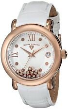Swiss Legend Women's Diamond Quartz Watch Rose Gold Leather Strap 22388-RG-02
