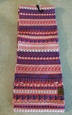 New~ Roots Kids Scarf Pink Blue White Fair Isle Design O/S One Size