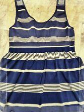 True Vintage Original Lycra Nautical Stripe Dress. Size Medium