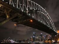 Photo Cityscape Sydney Harbour Bridge Night Canvas Art Print