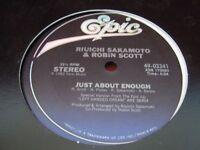 RIUICHI SAKAMOTO ROBIN SCOTT Just About Enough Vinyl 12 Single Record