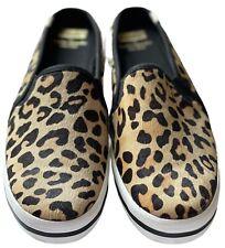 NEW Kate Spade New York Leopard Keds Print Slip On Shoes Sneakers Women's Sz 9