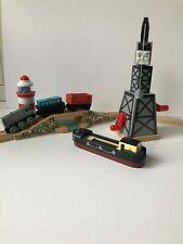 Thomas Friends Wooden Railway Sodor Lighthouse bridge and Cranky Crane