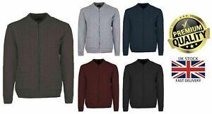 New Mens Zip Up Classic Grandad Argyle Knitwear Aztec Two Front Pocket Cardigans