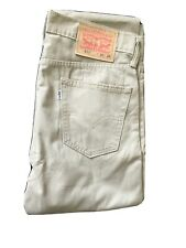 NEW LEVIS 511 DENIM JEANS! MENS W30/L32 Beige With White Label