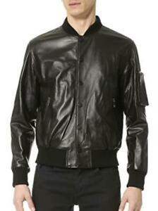 Ovadia & Sons Men's lambskin Leather Varsity Bomber Jacket Size S NEW $1500