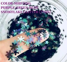 USA COLOR SHIFTING PURPLE BLUE GREEN SNOWFLAKES Nail Art SOLVENT-RESISTANT